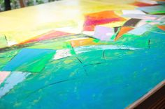 Canvas preparation...COLORS Contemporary Landscape, Triptych, Serenity, Meditation, David, Abstract, Canvas, Colors, Painting