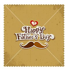 Happy father day vintage greeting card vector by Sarunyu_foto on VectorStock®