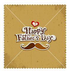 Happy father day vintage greeting card vector by Sarunyu_foto on VectorStock®