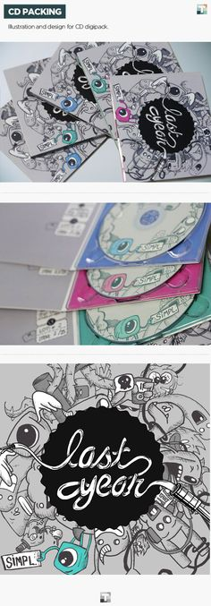 CD Packing by Tiago Oliveira, via Behance