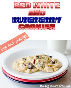 red white and blueberry cookies