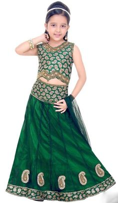 94c8e20411ac7f Deep Green Net Readymade Lehenga Choli With Dupatta Online Shopping