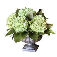 Classic Preserved Hydrangea Arrangement in Green...perfect for the sideboard in the dining room!