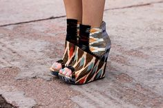 "These Aldo and Julian ""louie"" wedges in ikat are a perfect Spring to Fall transition shoe.  officially obsessed."