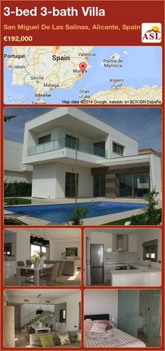 3-bed 3-bath Villa in San Miguel De Las Salinas, Alicante, Spain ►€192,000 #PropertyForSaleInSpain