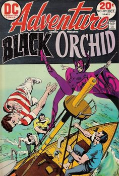 The Black Orchid comic book covers | love the 1970 s feel without the cheap gristmill look