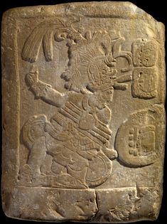 Maya bas-relief depicting a ball player, AD 600 - 750. via @AmericanIndianMuseum
