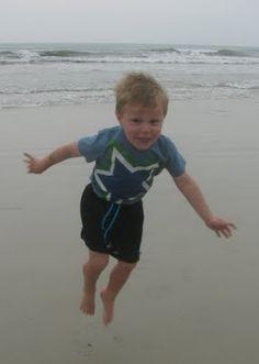 Jumpin' at the beach!