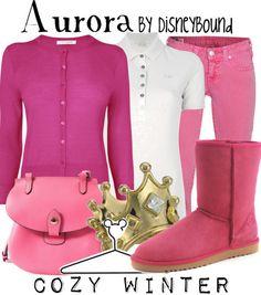 "Disney Princess Sleeping Beauty ""Aurora""-inspired outfit; Cozy Winter. | Disney Bound."