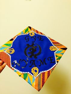 Kente clothe graduation cap design