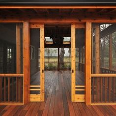Sliding style barn doors for gazebo we'd store the pontoon in for winter and enjoy in summer(being mosquito free)