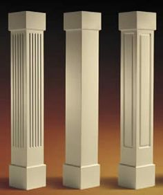 for the front entry? Craftsman Non-Tapered Columns Craftsman Columns, Classic House Design, House Outside Design, Craftsman, Modern House Exterior, House Designs Exterior, Wood Columns, Corner Decor, Craftsman Style Homes