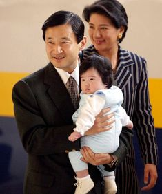 Crown Prince Naruhito, Crown Princess Masako and their daughter Aiko,2002.