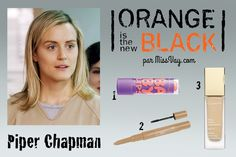 PIPER CHAPMAN -- Makeup inspiration / Inspiration maquillage : Orange is the New Black http://www.missvay.com/2015/07/inspiration-maquillage-orange-is-new-black.html #oitnb #OrangeistheNewBlack #makeup