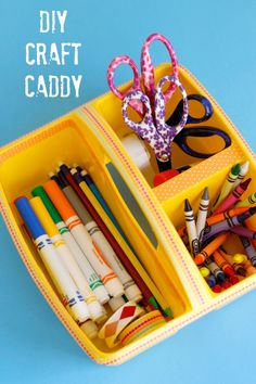 Back to school is here with all our supplies for school and home. We're making a DIY Craft Caddy to get it all organized!