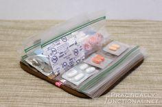 Organizador de medicamentos, entre otras cosas.
