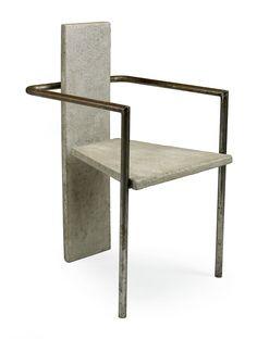 """JONAS BOHLIN, """"Concrete"""" Chair, Källemo 1981 Concrete and iron, signed 41/100 JONAS BOHLIN (€ 14 100-17 000). @Deidré Wallace"""