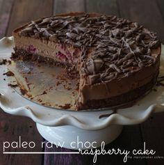 paleo raw choc raspberry cake