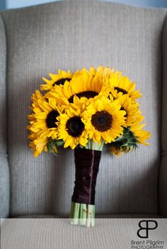 SUNFLOWERS WEDDING BOUQUETS - Beautiful Flowers