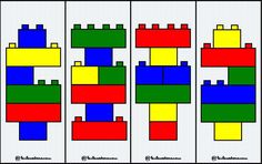 Nursery Activities, Activities For Kids, Lego Duplo Games, Legos, Bloc Lego, Lego Therapy, Modele Lego, Visual Perception Activities, Reading Comprehension