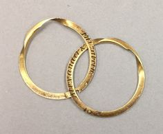 The Wedding Ring that Alexander Hamilton Gave to Elizabeth Schuyler, 1780 (click on link to see a video of how it fits together.)