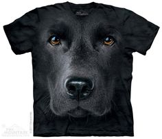 THE MOUNTAIN Black Lab FaceBig Boys Shirt
