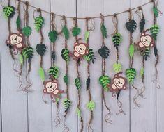 Jungle Theme Cakes, Jungle Party Decorations, Safari Theme Birthday, Monkey Birthday Parties, Jungle Theme Parties, Safari Birthday Party, Jungle Birthday Cakes, Cake Decorations, Decoration Creche