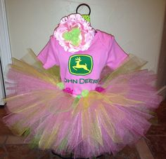 John Deere pink for country girls.... Yea I have this in mind for someone's future baby lol