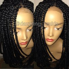Crochet Box Braids Wig : front box braid wig more box braids front boxes lace front braids wigs ...