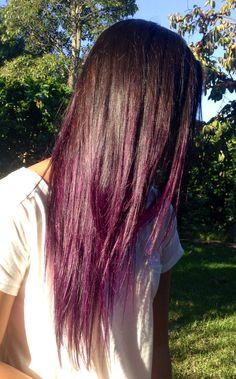 Purple ombre hair, manic panic- purple haze