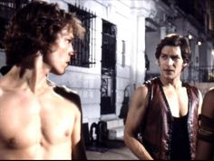 Michael Beck (Swan) and James Remar (Ajax) in the movie The Warriors Warrior Movie, Warrior 3, James Remar, Michael Beck, Great Movies, Awesome Movies, Cult Movies, Coney Island, Dream Guy