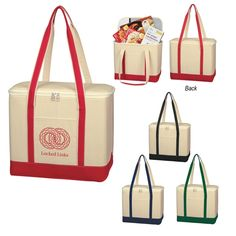Large Cotton Canvas Kooler Bag Trade Show Giveaways, Thing 1, Quality Logo Products, Beach Tote Bags, Printed Bags, Corporate Gifts, Bag Sale, Bag Making, Cotton Canvas