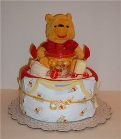1 Tier Red & Yellow Pooh - Front View.jpeg
