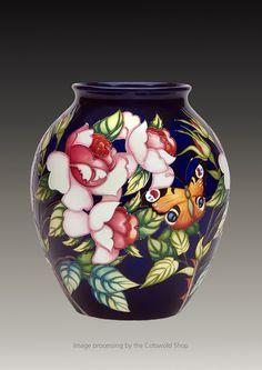 Moorcroft: 'RHS Wisley Vase' 61/10 Limited Edition. Emma Bosson 2016
