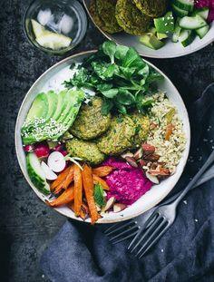 Green Pea Falafel Bowl