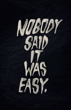 Nobody Said It Was Easy -Coldplay Click here to help someone