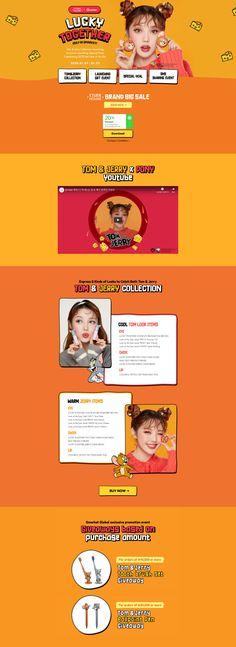 Layout Design, Web Design, Promotional Design, Tom And Jerry, Ballpoint Pen, Apps, Website, Detail, Advertising Design