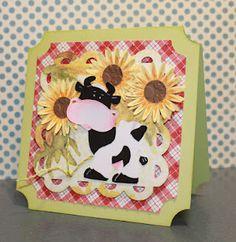 So cute!! Love this cow card