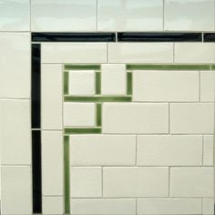 Subtle corner detail to dress up subway tile