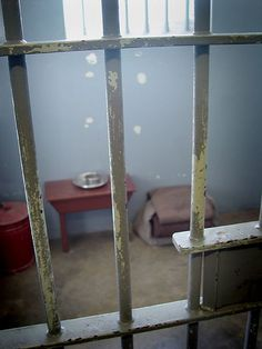 Nelson Mandela's jail cell, Robben Island, Cape Town, South Africa
