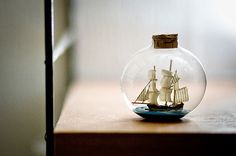 There is something enchanting about this ship in a bottle.