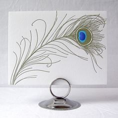 Presse Dufour peacock feather note cards. So chic.