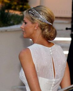 Princess Charlene of Monaco wearing the Diamond Foam Tiara