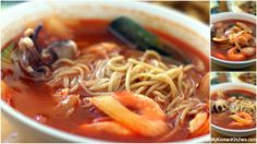 "Jjamppong (Korean spicy seafood noodle soup, 짬뽕), my ""favoritest""! Recipes For Soups And Stews, Soup Recipes, Korean Dishes, Korean Food, Brisbane, Korean Noodles, Asian Rice, Asian Recipes"