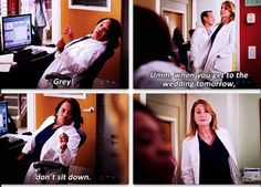 Grey's Anatomy. Bailey's way of asking Meredith to be her bridesmaid.