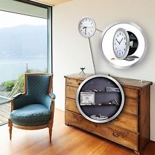 Wall Clock Hidden Safe Secret Jewelry Security Money Cash Compartment Stash Box