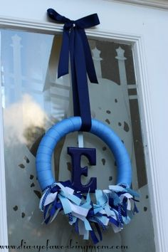 DIY: Baby Announcement Ribbon Wreath - Diary of a Working Mom