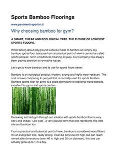 sports-bamboo-floorings by seicom sports parquet floors - pavimenti sportivi parquet via Slideshare