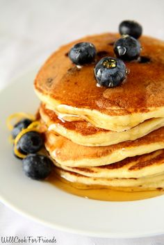 Will Cook For Friends: Lemon Blueberry Pancakes - Homemade Pancake Mix Two Ways