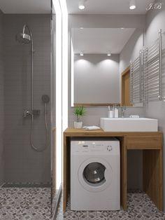 New tiny house bathroom layout laundry rooms 28 ideas Tiny Laundry Rooms, Laundry Room Bathroom, Tiny House Bathroom, Laundry Room Design, Modern Bathroom, Bathroom Faucets, Bathroom Ideas, Bathroom Cabinets, Bathroom Bench